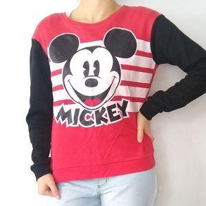 DISNEY Mickey mouse graphic Colorblock Sweatshirt